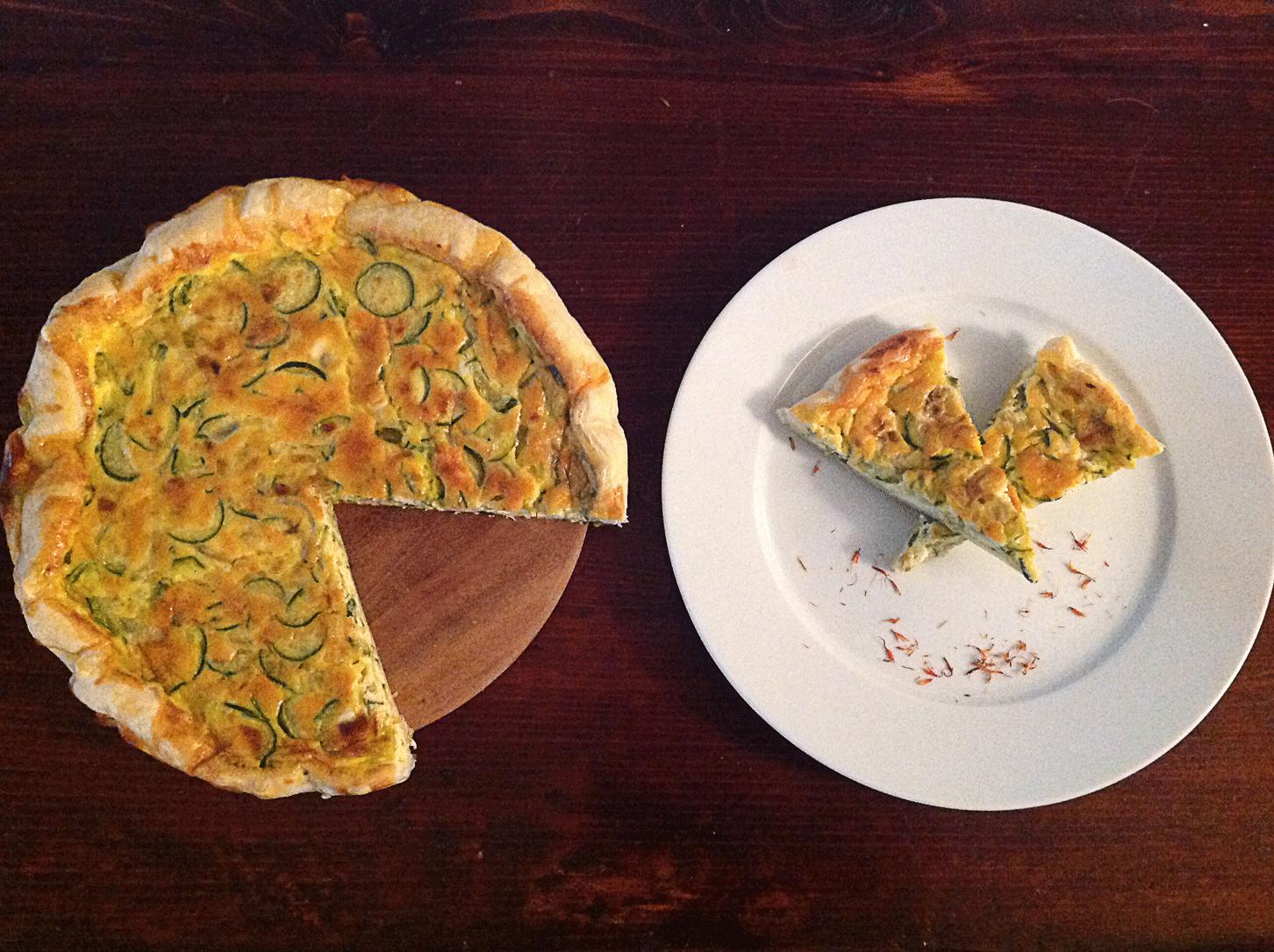 Torta Salata Zucchine e Zafferano