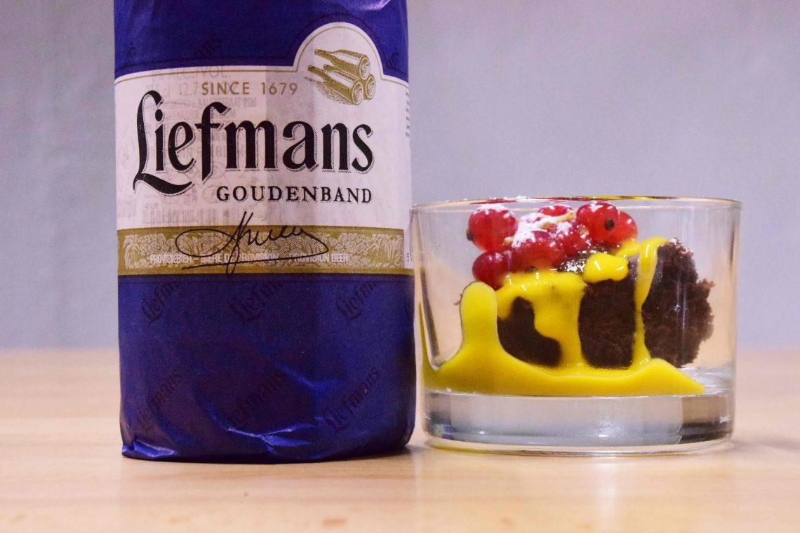 Finger food di torta al cioccolato e birra con Zabajone